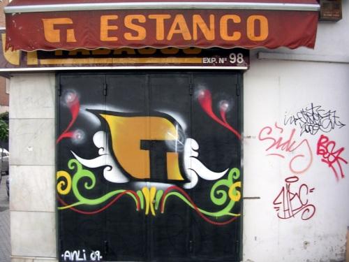 Estanco Exp. Nº 98, calle Torneo - Sevilla. Grafiti 60.