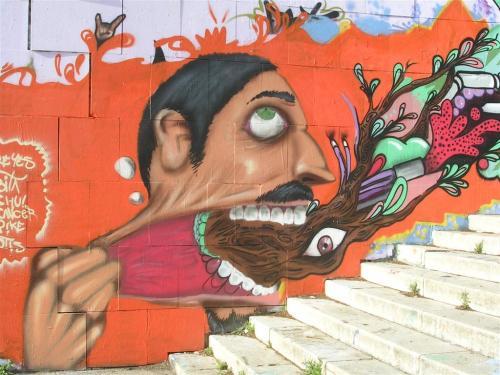 Lo que es capaz de salir por una boca. Grafiti 66