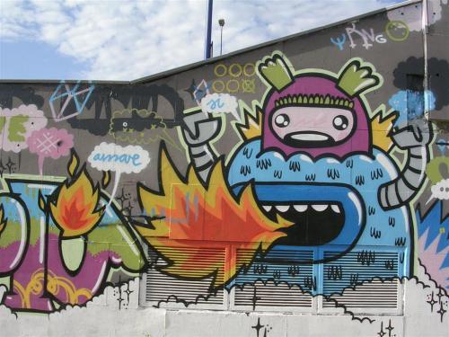 Echando fuego por la boca. Grafiti 70.