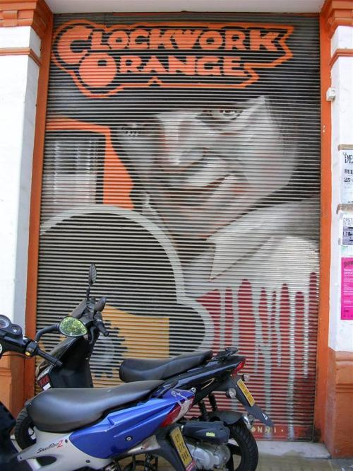La naranja mecánica. Clockwork Orange. Grafiti 100.