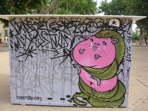 La serpiente enroscada. tuyostudio.com - Grafiti 105.
