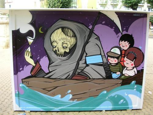 Viaje de Caronte. Grafiti 107.