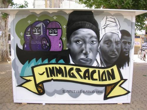 INMIGRACIÓN. slamstyle.largd.2009. Grafiti 108.