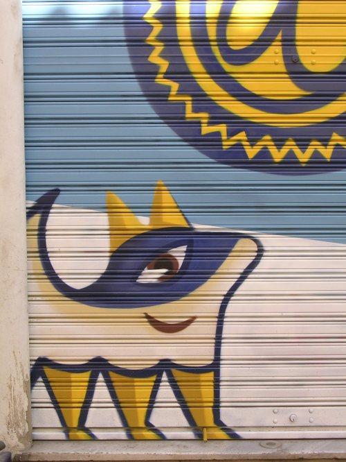 El perro (perrito) de Animasoc. Graffiti 112.
