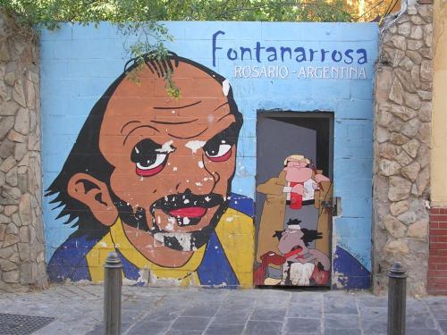 Fontanarrosa. Rosario. Argentina. Firma *ASPAR · B.M.S. Grafiti 116.