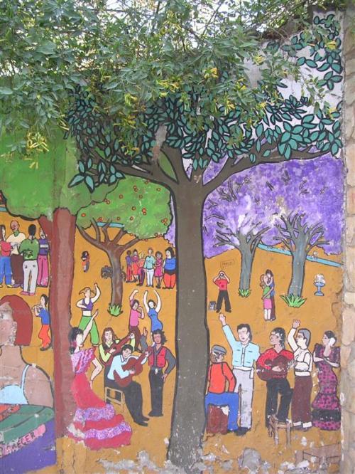 Mural en la Alameda de Hércules. Grafiti 117.