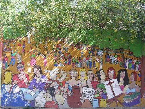 Mural en la Alameda de Hércules. Grafiti 118.