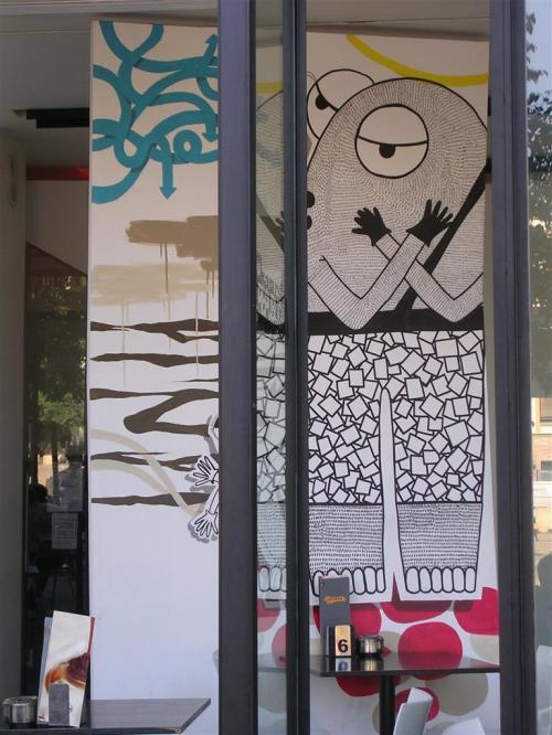 Mural en el República Café. Grafiti 120.