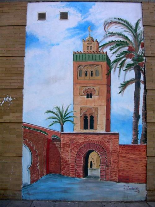 Tetería Al-Azahar. Firma J.Bennani. Grafiti 128.