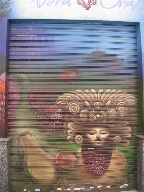 Isla Coral. Firma ICNNI. Grafiti 129.