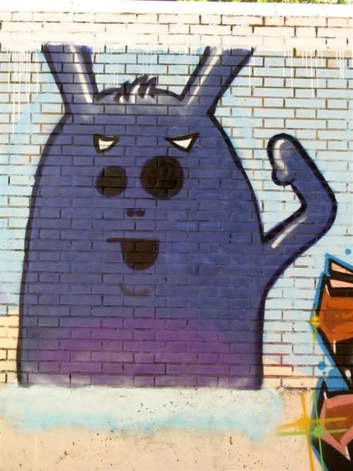 Monigote azul. Grafiti 133