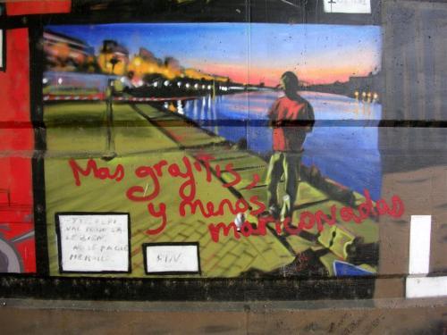 """""""Más grafitis, y menos mariconadas"""". Grafiti 142."""