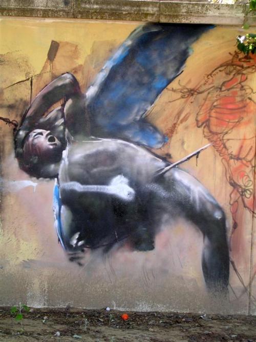 El ángel herido. Grafiti 152.