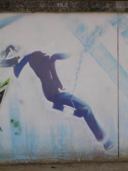 Perdiendo el equilibrio. Grafiti 157.