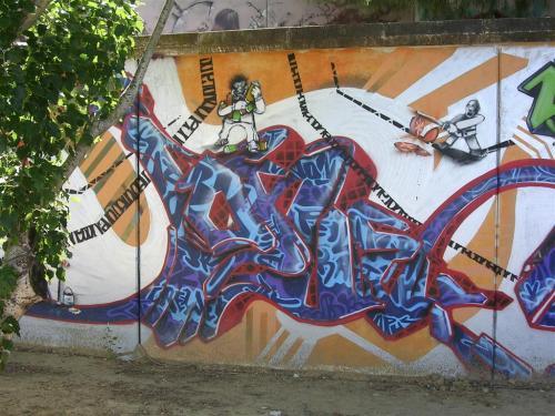 Hobrecillos grafiteando II. Grafiti 163.