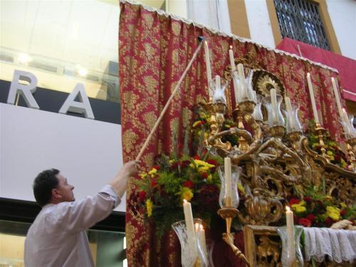 Altar en la calle Sierpes - Sevilla. Corpus Christi 2009
