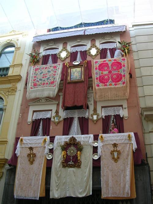 Fachada en la calle Sierpes - Sevilla. Corpus Christi 2009