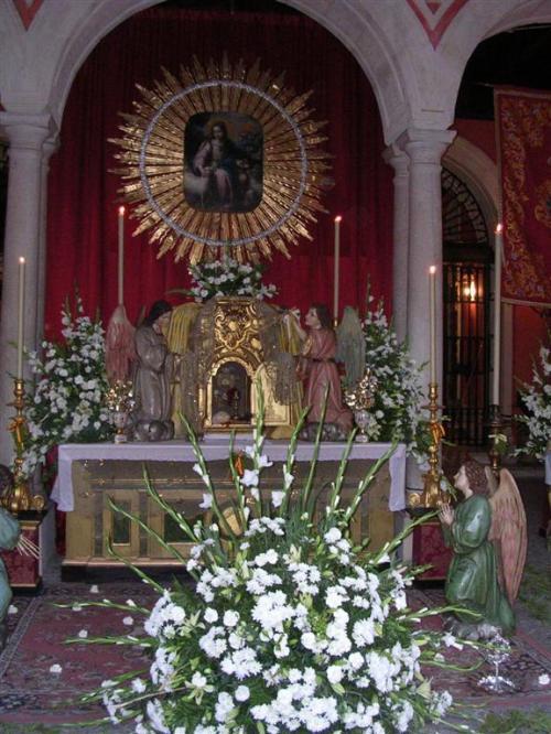 Altar en la sede Cajasol de la Plaza de San Francisco - Sevilla. Corpus Christi 2009