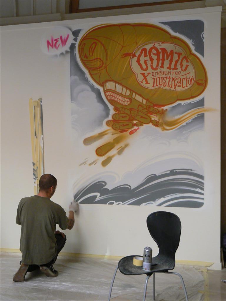 """Grafitis """"abducción"""" y """"algo más acerca de dios"""" de ed zumba"""