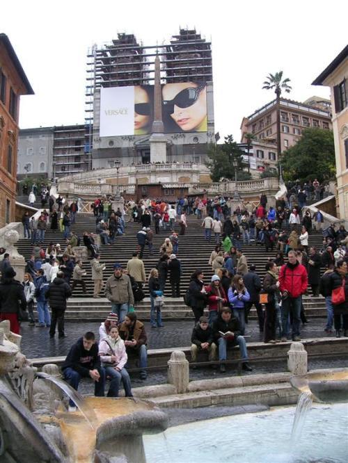 Foto de las escalinatas de la Plaza de España en Roma - Italia. Foto por martin_javier