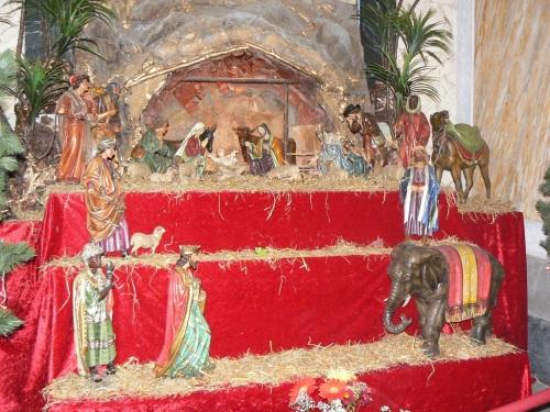 Fotos del belén, nacimiento, pesebre, portal o pasitos de la Iglesia de San Pedro en Tel Aviv - Israel. Foto por martin_javier