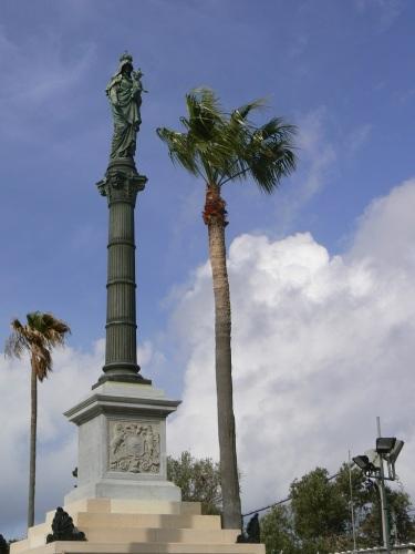 Foto del monumento a la Virgen del Carmen donado por los chilenos en Haifa - Israel. Foto por martin_javier.