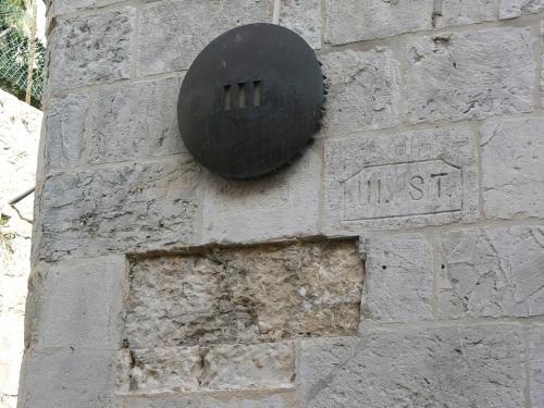 Fotos de la Vía Dolorosa – Vía Crucis: Tercera Estación: Jesús cae por primera vez. Jerusalem – Israel. Foto por martin_javier