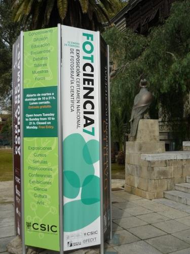 Fotos de la exposición FOTCIENCIA7 en la Casa de la Ciencia en Sevilla - España.