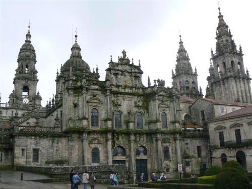 Fotos de la Catedral de Santiago de Compostela – Fachada de la Plaza de Azabachería – España. Foto por martin_javier
