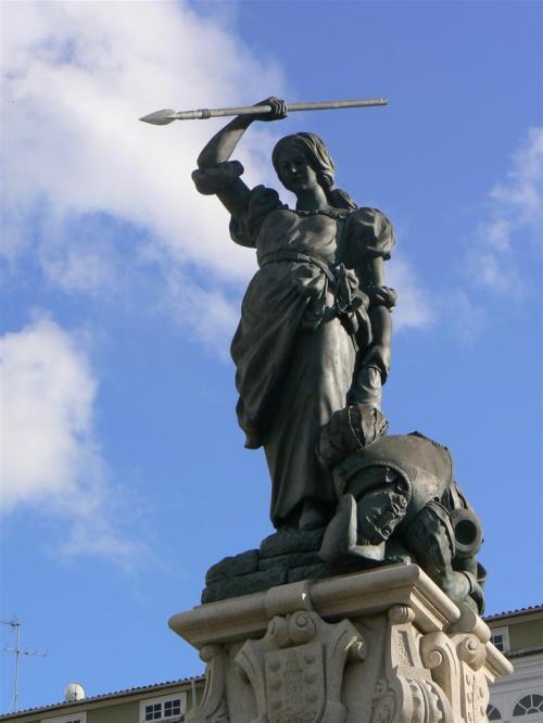 Foto de estatua de María Pita en A Coruña - España. Foto por martin_javier