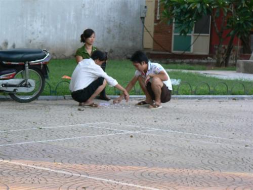 Foto de jugadores de ajedrez chino en Hanoi - Vietnam. Foto por martin_javier