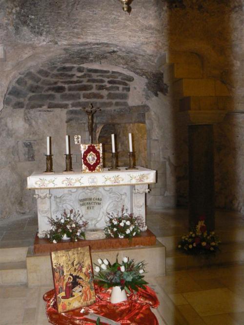 Fotos de la Casa de la Virgen María, la gruta de la Anunciación en Nazaret - Israel. Foto por martin_javier