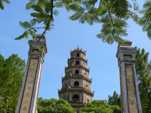 Fotos de la pagoda de Thien Mu en Hue - Vietnam. Foto por martin_javier