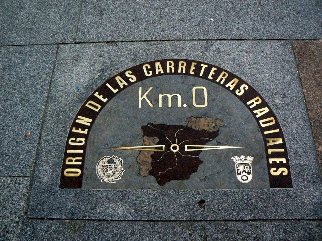 fotos del kil metro cero puerta del sol de madrid