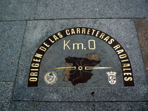 Fotos del Kilómetro cero. Puerta del Sol de Madrid - España. Foto por martin_javier