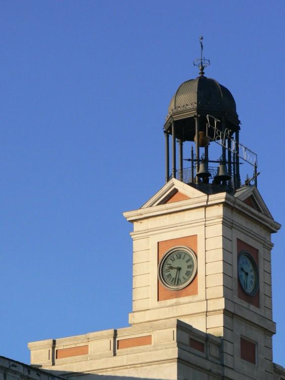 Fotos de la real casa de correos reloj de la puerta del for Puerta del sol hoy en directo