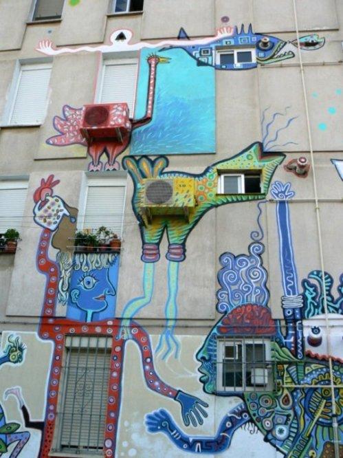 Fotos de Arte para todos: Mural de Cristina Salas, Javier y Jaime Suarez. Foto por martin_javier