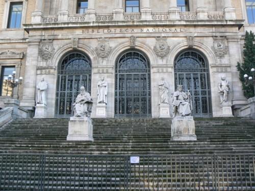 Fotos de la Biblioteca Nacional de España en Madrid. Foto por martin_javier