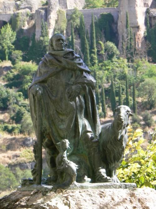 Foto del Monumento, Pastor de las Huesas del Vasallo de Cuenca - España. Foto por martin_javier