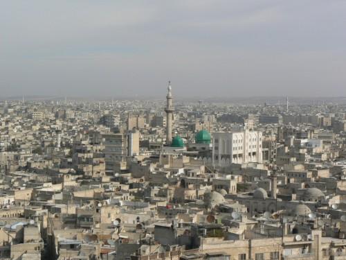 Fotos panorámicas de la ciudad de Aleppo (Alepo – Siria). Foto por martin_javier