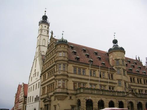 Fotos del Ayuntamiento y de la Plaza del Mercado - Rothenburg ob der Tauber (Alemania)