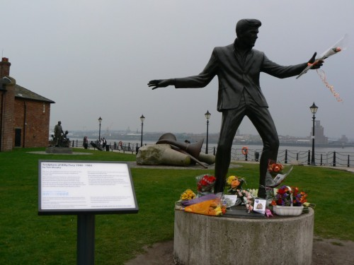 Foto de la estuatua a Billy Fury - Liverpool - Inglaterra - Reino Unido. Foto por martin_javier