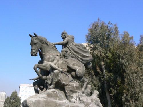 Foto de Estatua ecuestre de Saladino en Damasco - Siria. Foto por martin_javier