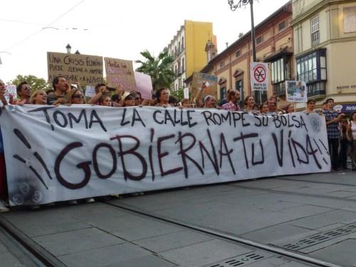 Manifestación 15 o en Sevilla. Foto por martin_javier