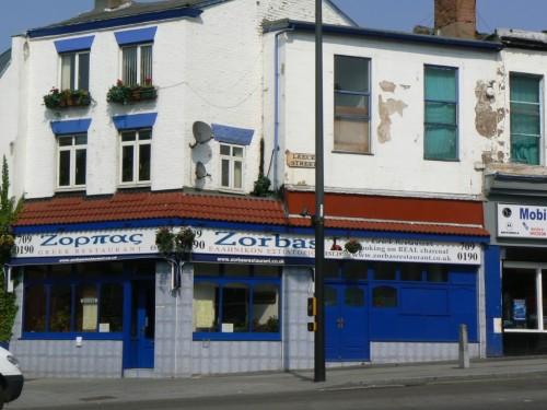 Foto de Zorbas, restaurante griego el Leece St en Liverpool - Inglaterra. Foto por martin_javier