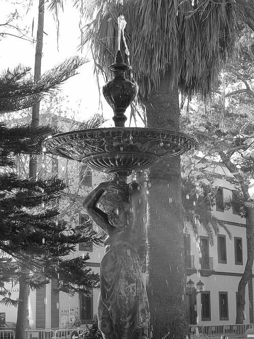 Foto de  fuente en un parque de Cádiz - España. Foto martin_javier