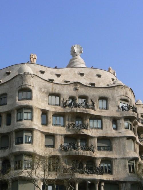 Fotos de la Cala Milà - La Pedrera en Barcelona - España. Foto de martin_javier